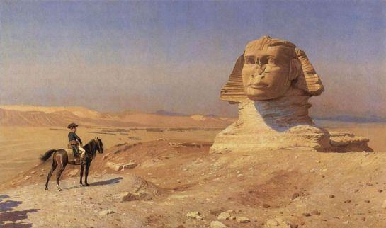 Lukisan berjudul Bonaparte Before the Sphinx yang dilukis oleh Jean-Léon Gérôme, Hearst Castle pada tahun 1868